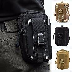 Zhaoco multi-purpose Poly Tool Holder, tattico molle Edc sacchetto Utility gadget cintura marsupio con fondina telefono cellulare per sport, escursionismo, campeggio