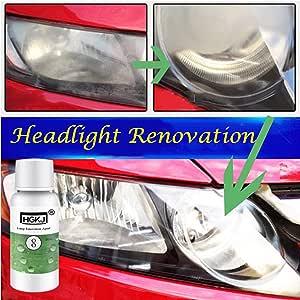 Hgkj 8 Auto Scheinwerfer Reparaturflüssigkeit Dekontaminationslösung Für Auto Rücklicht Reinigung 1 50 Ml Küche Haushalt