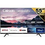 Caixun EC55S1A Smart TV 55 Pouces 140cm, 4K Téléviseur Android 9.0, HDR 10, Triple Tuner, (Prime Video, Netflix, Youtube, DAZ