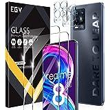 EGV Compatible avec Realme 8 Pro Verre Trempé, 2 Pack Film Protection Écran et 2 Pack Caméra Arrière Protecteur