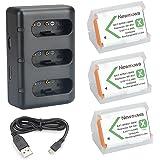 NP BX1 Newmowa ersättningsbatteri (3-pack) och 3-kanals USB-laddarsats för Sony NP-BX1 och Sony Cyber-shot DSC-RX100,DSC-RX10