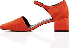Marque Amazon - find. Block Heel Two Part Suede, Mary Jane femme