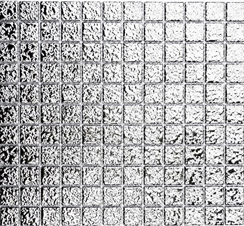 mosaico piastrelle di rete parete UNI argento martellato ceramica mosaico specchio piastrelle doccia tazza per piastrelle da parete quadrato cucina bagno WC