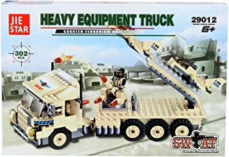 Planet of Toys Heavy Equipment Truck Building Blocks (302 Pieces)