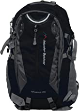 Inlander A2ZINL1015BKRS Polyester Rucksack with Rain Cover, Small (Black)