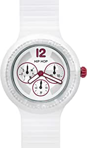 Orologio HIP HOP per uomo MULTIFUNZIONE con cinturino in silicone, movimento MULTIFUNZIONE QUARZO