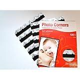 Silver Colour Photo Corners Self Adhesive Sticky Acid Free Album Scrapbook Frame (108 Corners)