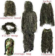 PUBG Cosplay Camouflage Suit Secretive Hunting Clothes Breathable Sniper Army Airsoft Uniform