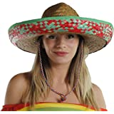 MEXICAN SOMBRERO STRAW HAT PERFECT FOR ANY MEXICO SOMBREROS FANCY DRESS PARTY FOR MEN AND WOMEN WHOLESALE (GREEN)