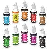 Colorante Alimentario Liquido Set 10×10ml, Abree Food Coloring Alta Concentración Colorante Reposteria para Colorear Bebidas