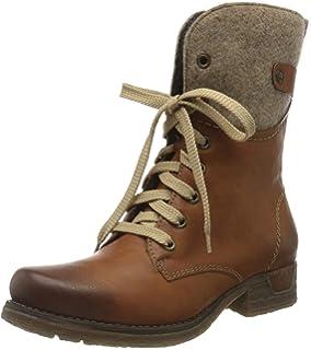 Rieker Y9704 Damen Stiefel, Stiefelette, Schnürstiefel, Boot Ku4wW