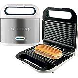 Taurus Sandwichera Phoenix Luxe, grill, resultados crujientes, placas antiadherentes 21.5x12.5 cm, indicador luminoso de temp