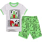 Kids Boys Funny Fashion YouTube Gamer Fans Pyjamas PJS Set Youth Girls Sleepwear Shorts