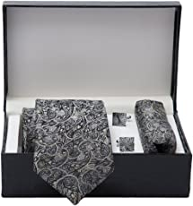 Men's Tie, Pocket Square & Cuff link Set (3 inches wide)