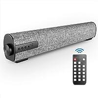 VANZEV Portatile Soundbar per PC, Altoparlante Hi-Fi Suono Surround 3D, Bluetooth Cablati e Wireless con Telecomando per…
