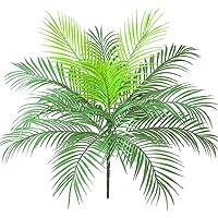 Aisamco - Plante Artificielle en Feuilles de Palmier Tropical Artificiel en Vert 1 Pcs - Plante en Plastique - Plante…