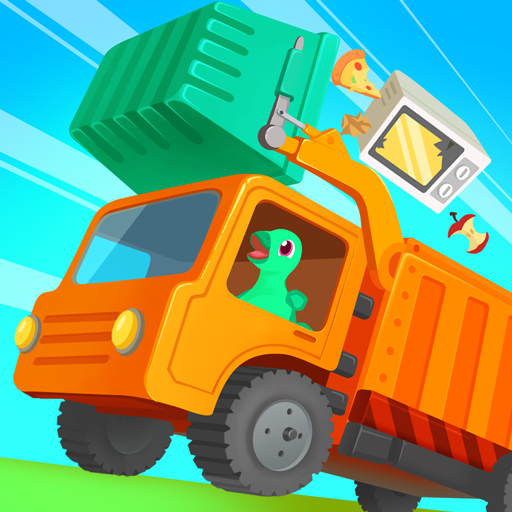 Dinosaur Garbage Truck - Truck simulator Games for kids & toddlers