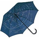 Fare–Ombrello standard automatico con asta in legno–Mappa del cielo–Costellazioni–105cm–3330A