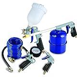 MICHELIN CAKITMICHELIN - Kit de aire profesional 5 pzs. (pistolas de pintar, soplar, petrolear, lavar y espiral), negro
