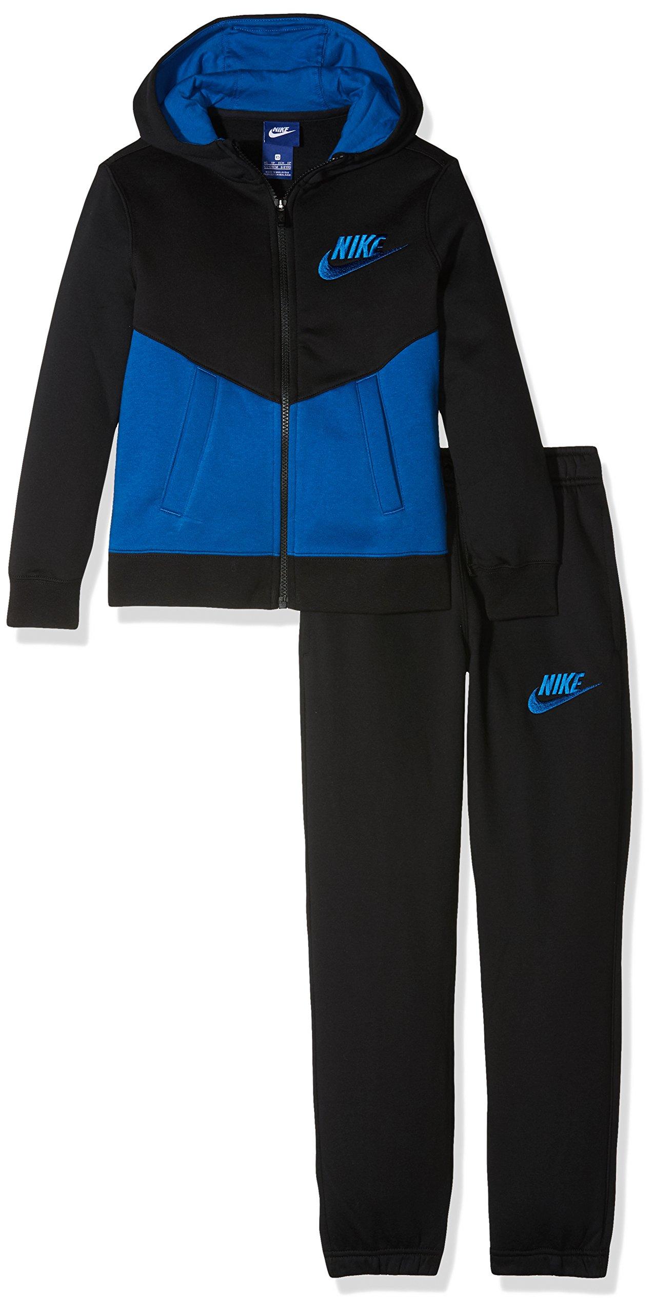 Nike B NSW TRK BF Core tuta, Bambini, Bambino, B Nsw Trk Bf Core, nero (ghiandaia azzurra), XS