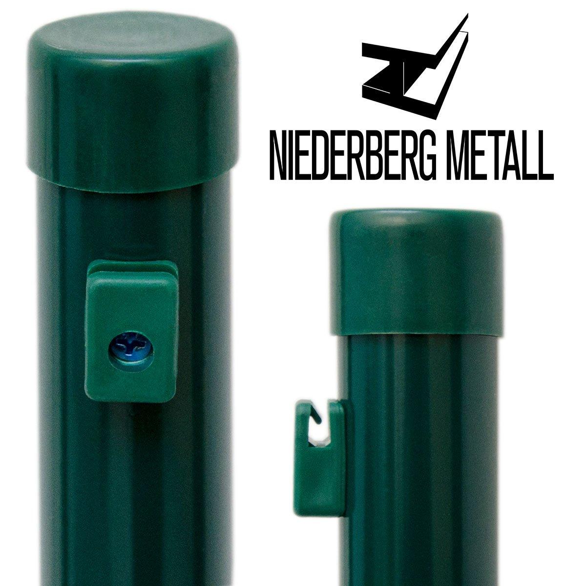 NIEDERBERG METALL Zaunpfosten 150 cm Zaunpfahl ˜ 34 mm Metall