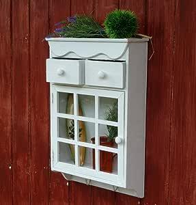 Wandschrank Hängeschrank Küchenschrank Shabby Chic Weiß 2