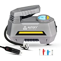 Autofy AIR+ with AUTO Cut 1 Year Warranty Advanced Digital & Analog Display Car Tyre Inflator 150PSi Portable Air…