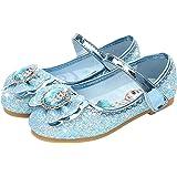 AIYIMEI Zapatos de la Princesa Elsa niñas con Lentejuela Zapato de Disfraz Elsa de Princesa Disfraz Sandalias con Velcro Zapa