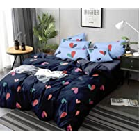 SHOPICTED® 350TC Microfiber Glace Cotton AC Comforter Set King Size Double Bed with 1 Flat bedsheet-90x100 inch and Two…