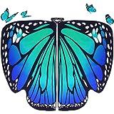 DURANTEY Chal Alas de Mariposa Disfraz de Mariposa Adulto de Tela Suave Bonitas Alas de Mariposa para Mujer Accesorio para Di