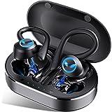 Auriculares Inalambricos Deportivos, Auriculares Bluetooth 5.1 con Micrófono, IP7 Impermeable, Reproducción de 45 Horas, Cali