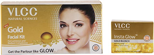 VLCC Gold Facial Kit and Insta Glow Bleach Combo