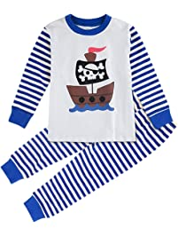 Mombebe Pijamas Niño Infantil Invierno Raya Ropa Set Manga Larga