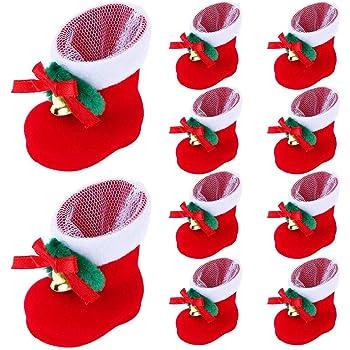 10XChristmas Santa Claus Party Gift Drawstring Packing Stocking Bags UK