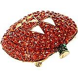 MagiDeal Broche de estilo caliente con diseño de calabaza de cristal, ideal para Halloween, Navidad, regalo de joyería