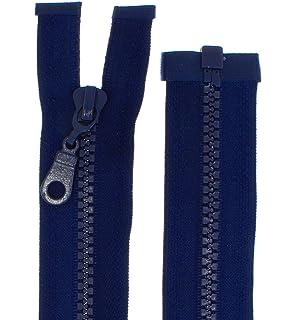 Plastik Z/ähne teilbar 5-6mm PZ dunkelgrau-312 zipworld Rei/ßverschluss Kunststoff 100cm