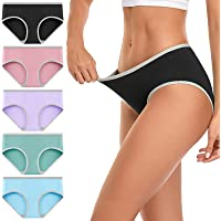 wirarpa Culottes Femmes Coton Slips Taille Basse Hipster Multipack