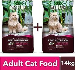 Meat Up Adult Cat Food, 7 kg (Buy 1 Get 1 Free)