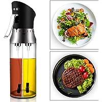 CestMall Spruzzatore Olio 200ml  xFF0C Oil Sprayer Dispenser con tubo spazzola Aceto Olio Spruzzatore Nebulizzatore Olio Cucina in Vetro per BBQ  insalata  pane di cottura  cucina