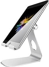 """Tablet Ständer Verstellbare, Lamicall Tablet Staender : Universal Halter, Halterung, Dock, für iPad Pro 10.5 / 9.7, iPad Air 2 3 4, iPad mini 2 3 4, Samsung Huawei E-Reader und Google Nexus Schreibtisch, andere Tab 5""""-13"""" - Silber"""