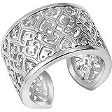 MATERIA gioielli 925 anello in argento a forma di stella - larghezza anello da donna in argento a forma di cuore in taglia 52