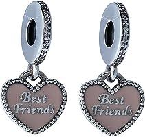 Pandora Women's Best Friends Dangle Charm - 791950CZ, Sterling Silver
