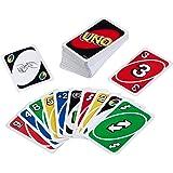 Mattel Games Siva _226874 W2087 UNO kaartspel en gezelschapsspel, geschikt voor 2 - 10 spelers, kaartspellen en gezelschapssp