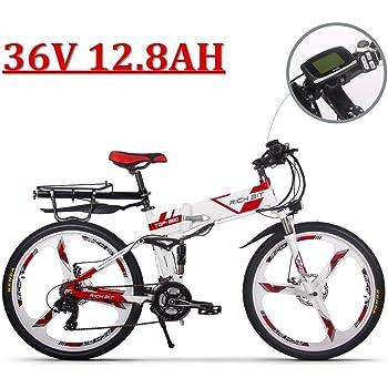 eBike_RICHBIT 860 Hombres Bicicleta eléctrica de montaña Plegable 17 X 26 Pulgadas 250 W 36V 12.8