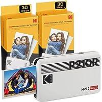 Kodak Mini 2 Retro Imprimante Photo Portable, Photos instantanées Format 54 x 86 mm, Bluetooth et Compatible avec…