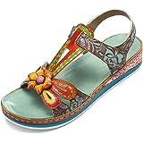 gracosy sandaler dam sommar, läder toffel öppna sandaler vintage toffel bekväm klassisk clog tofflor strand skor