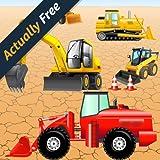 Puzzle mit Fahrzeugen und Bagger für Kleinkinder und Kinder: spielen mit den Bau Maschinen ! Educational Puzzle Spiele - KOSTENLOS (Actually Free)