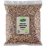 Organic Tricolour Quinoa 1kg (Black, White & Red) by Hatton Hill Organic - Certified Organic