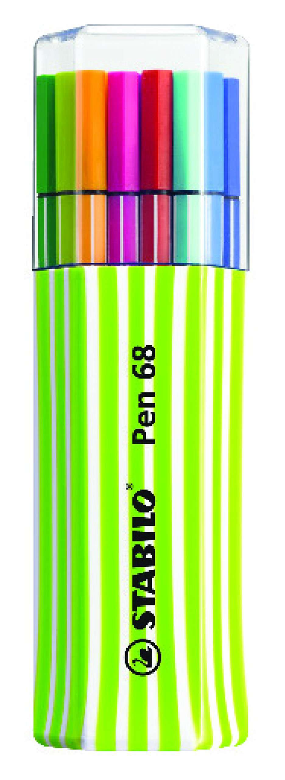 Stabilo Pen 68 6815-01-2-5 rotuladores, 15-él-pack único, verde