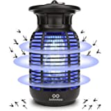 infinitoo Electric Mosquito Killer, 15W Waterproof Mosquito Zappers, Handheld Fly Killer, Mosquito Trap with Electronic UV La